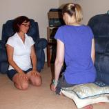 Quads stretch/preparation for hip strengthening exercises